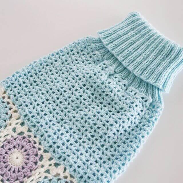 透かし編みのワンコようワンピ